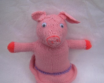 knitted toy pig soft toy first toy from cartoon good toy stuffed pig doll pig funny toy funny toy pink pig animal farm toy cartoon pig farm