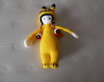 stuffed amigurumi pikachu