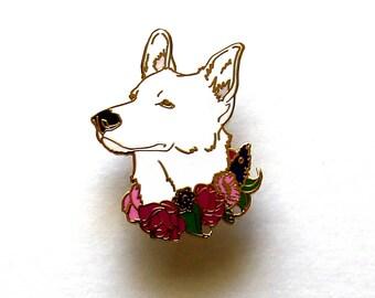 Dog Enamel Pin, Hard Enamel Pin, German Shepherd, Dog Lover Gift, Gift for Her, Gift for Him, German Shepherd Pin, Dog Lapel Pin, Birthday