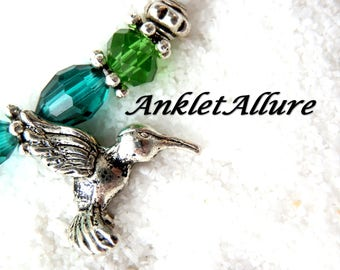 Anklet HUMMINGBIRD Ankle Bracelet BIRD Ankle Bracelet BEADED Anklets for Women Guarantee