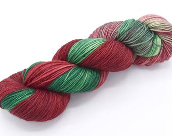 Closer Than You Think Variegated Hand Dyed Christmas Yarn - Dyed to Order