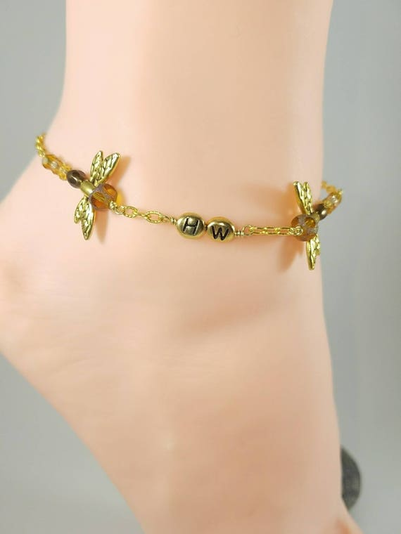 bracelet bracelets necklace anklets gold byzantine inch heavenlytreasuresjewelry flat anklet or ankle yellow
