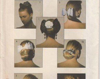 Hair Bow Pattern Hair Accessories 1986 uncut  Simplicity 8000