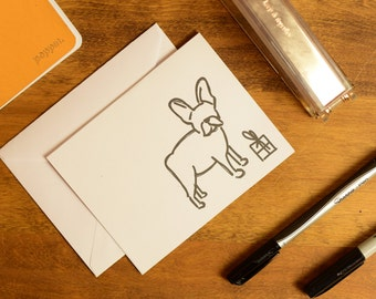 French Bull Dog Christmas Card