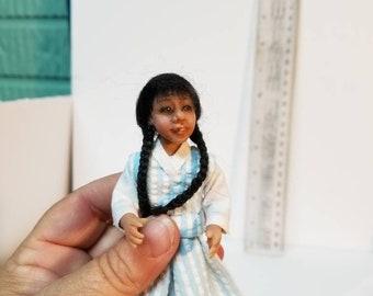 ooak 1/12 scale miniature art doll