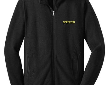 Personalized Premium Blended Fleece Adult Full-Zip Jacket Monogram or Name Included 92900 oQLjM8