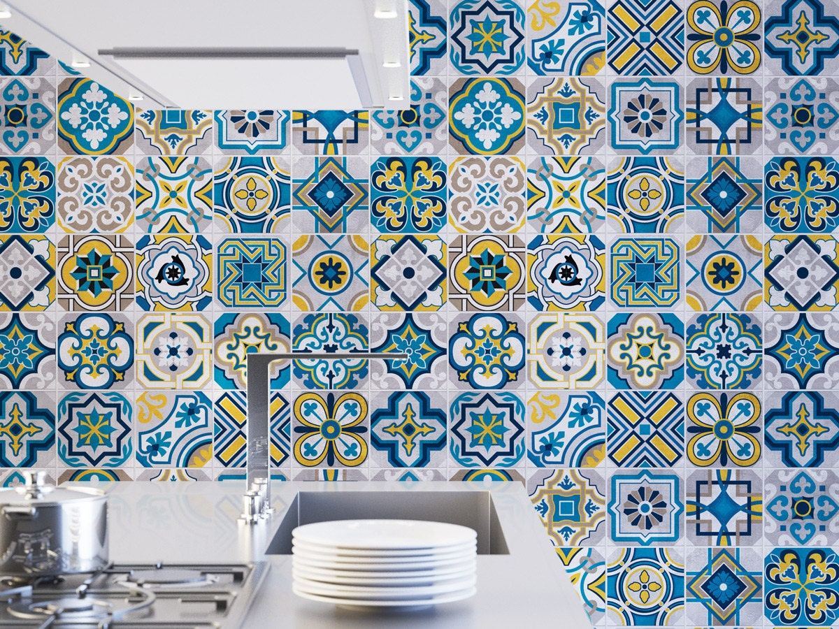 Colorful Tiles Wall Tiles Floor Tiles Tile Decals