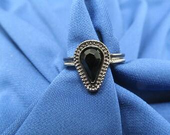 Vintage Black Ring Size 10