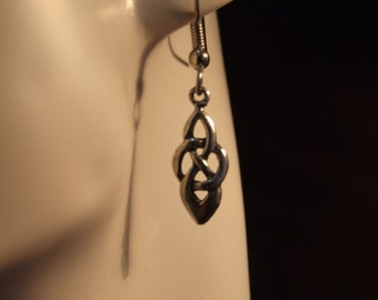 Celtic knot earrings made with Australian Pewter and Surgical Steel hook