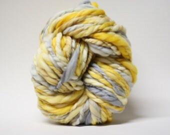 Handspun Yarn Wool Thick and Thin Superfine Merino Slub ttS(tm) Hand dyed Extra Super Bulky Half-Pounder xxlr TP 1501a