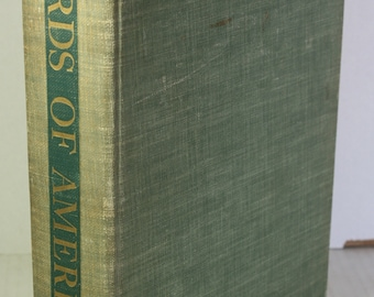 Birds of America 1936 Ornithology Bird Watchers Book Louis Agassiz Fuertes Color Plates Inscribed