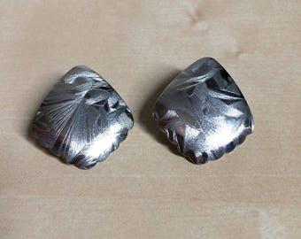 Vintage Silver Southwestern Style Earrings