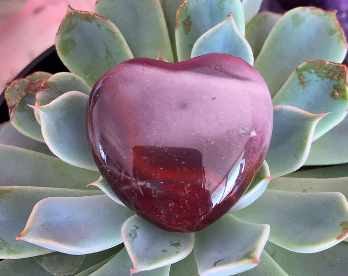 Jasper Heart infused with Reiki/ Healing Crystals and Stones