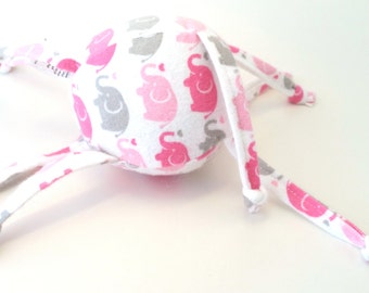Soft Baby Toy - ZadyMini - pink elephants on parade