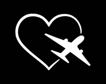 Airplane Decal Etsy