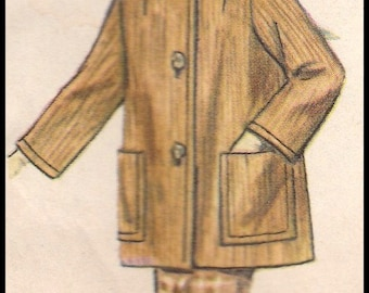 Simplicity 4637  Misses' Coat in two lengths  Size 14 Bust 34""
