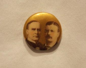 McKinley/Roosevelt campaign button