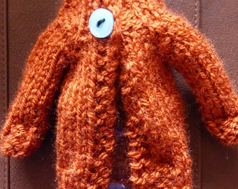 Hand Knitted Cardigan For Blythe - Lovely Longline Chunky Knit