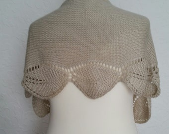 Knitted wool shawlette,scarf,knitted wrap