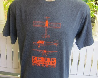 Size L (44) ** Propeller Plane Drawings Shirt (Single Sided)
