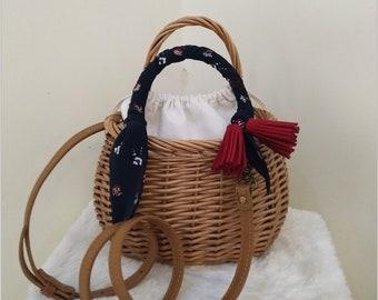 Wicker Purse, Wicker Bag, Handwoven Willow Handbag, Small Wicker Bag, Willow Purse, Small Basket Purse, Basket Bag, Basket Tote Wicker Purse