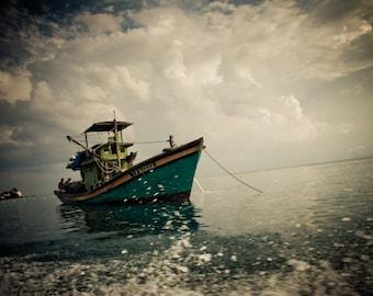 Fishing Boat, Perhentian Islands, Malaysia - metallic or lustre