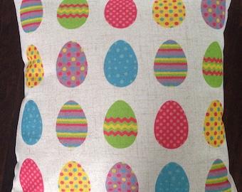 Easter egg pillow cover
