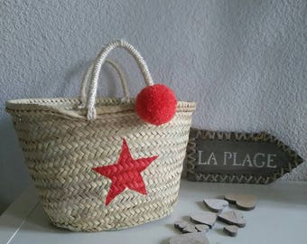 Basket hearty, Red Star and tassel