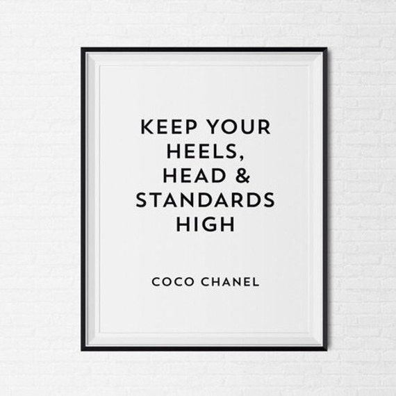 Sad Tumblr Quotes About Love: Coco Chanel Frame Quote Tumblr Pintrest Quote Typographic