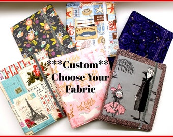 Choose Your Fabric Custom WIP Tracker Cover and Binder