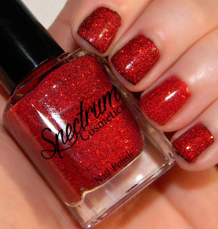 SANTA BABY Red Glitter Nail Polish