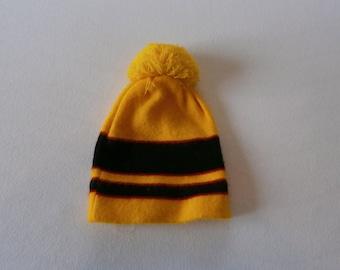 70's Yellow Wool Winter Hat