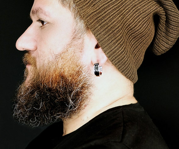 mens religious earrings