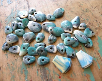 Vintage Faux Turquoise Beads and 2 Cabochon