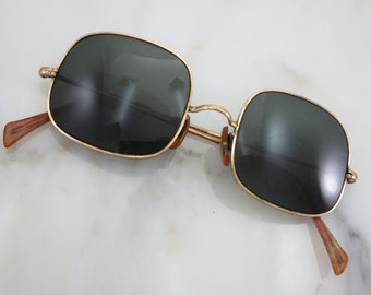 Vintage Square Sunglasses - 12k Gold Fill