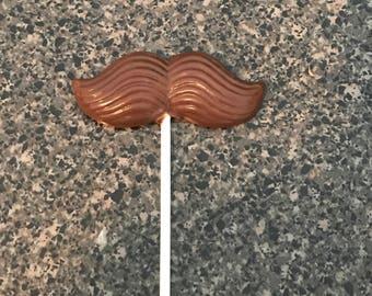 Chocolate Mustache Lollipops