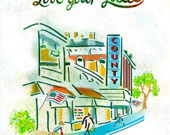 Love your Local, locavore, typographic print, kitchen decor, cafe art, farmer's market, gift, 8 x 10 print