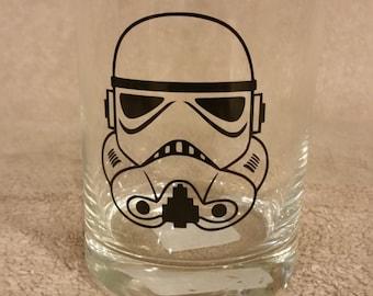 Star Wars Storm Trooper Rocks Glass