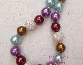 Made to Match Matilda Jane Character Counts Chunky Bubblegum Necklace
