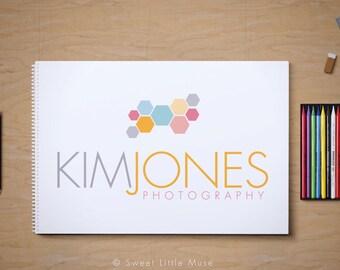 Photography logo - premade logo - Modern Logo - hexagon logo - geometric logo