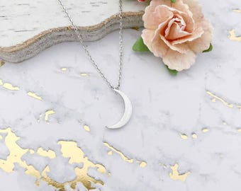 Silver Moon Dainty Necklace