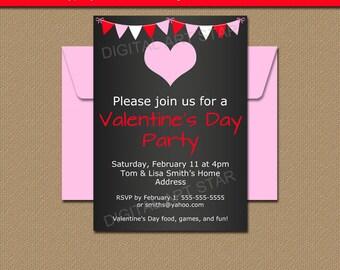 chalkboard valentine invitations editable valentines day invitation template digital chalkboard invitations valentines day sign v4