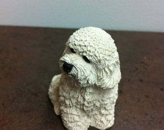 Vintage Dog Figurine - White Bichon Frise - Toy Dog Breed Ornament - Gift for the Dog Lovers