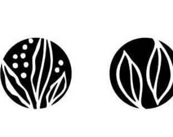 Rubber Stamps for Chalkboard Beads -- Spiral to Sun