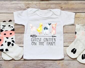 Farm Onesie®, Farm Shirt, Farm Birthday, Pig Shirt, Farm Gift, Farm Animal Onesie®, Goat Onesie®, Farm Shirt, Farm Onesie®, Farm Animals