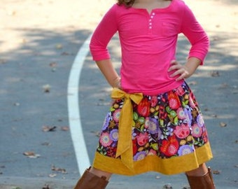 Instant Download Girls Skirt  PDF Pattern Skirt Pattern 8-16 Sewing Pattern Tutorial E Book