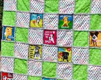 "Rag Quilt-""Must LOVE Dogs!"""