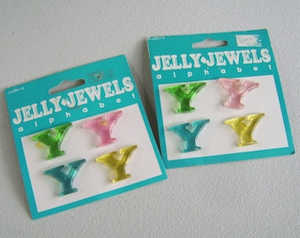 Letter Y Jelly Jewels Resin Initial Cabochon