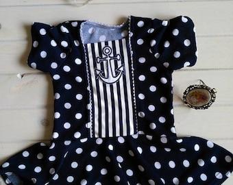 Girls size 7 sailor shirt