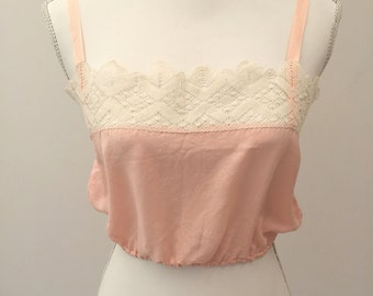 1920s silk and lace camisole top vintage